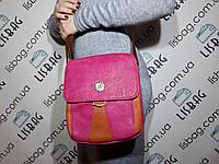 Средняя женская сумка розового цвета