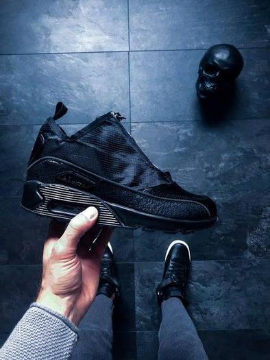 Мужские зимние кроссовки Nike Air Max 90 Utility Triple Black (Найк Аир Макс) черные