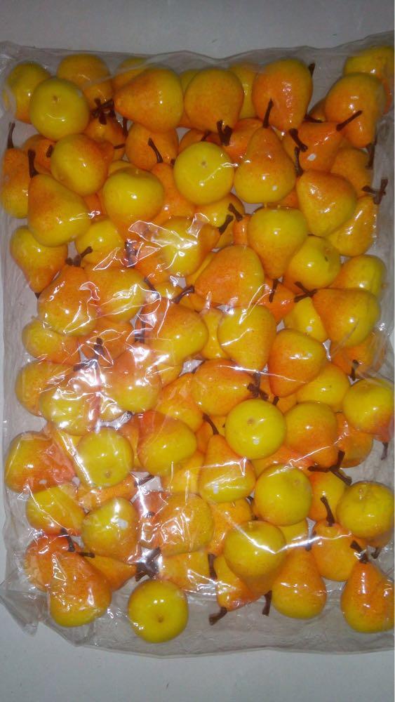 Муляж груши,искусственная груша,искусственный фрукт