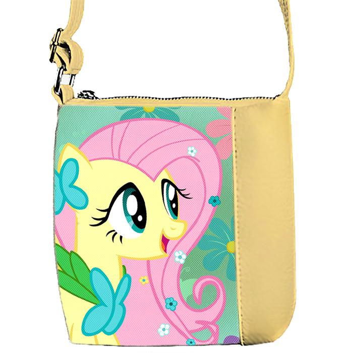 Бежевая сумка детская Mini Miss с принтом Пони