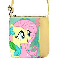 Бежевая сумка детская Принцесса с принтом Пони