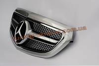 Решетка радиатора со звездой AMG на Mercedes E-class W212 2013 рестайлинг серебряная