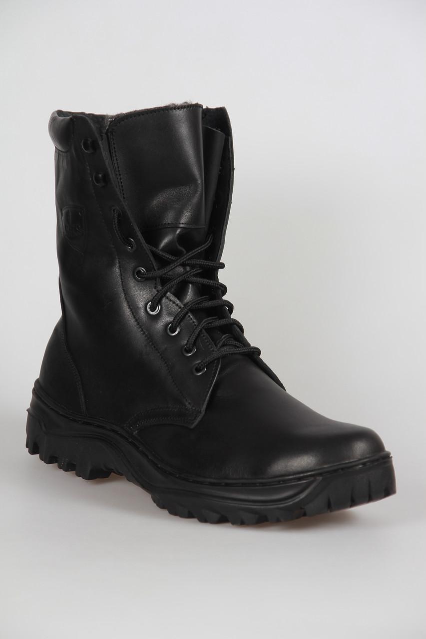 Утеплённые ботинки Берцы из натуральной кожи