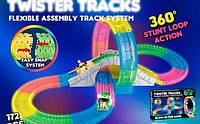 Детский гоночный трек Twister Tracks 7790 светящийся (аналог Magic Tracks)