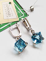 Серьги Кубик с кристаллом Swarovski , фото 1