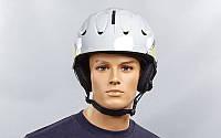 Шлем горнолыжный с механизмом регулировки MS-86W-L (ABS, p-p L-58-61, бело-золотой)