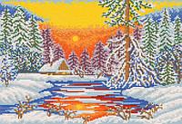 Схема для вышивки бисером Студеная зима