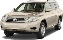 Защита заднего бампера на Toyota Highlander (2007-2013)