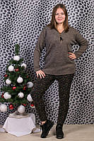 Женские цветные штаны на меху Шугуан 6641-8. Размер 50-56.