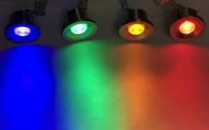 Светодиодный светильник декоративный HL666L 3W м.хром. желтый, синий, зеленый, красный Код.56372, фото 3
