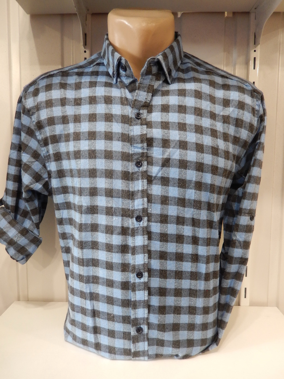 8aaa6453aa2b8a6 Рубашка мужская теплая оптом. Рубашка клетка - Интернет магазин Одежда оптом  в Одессе