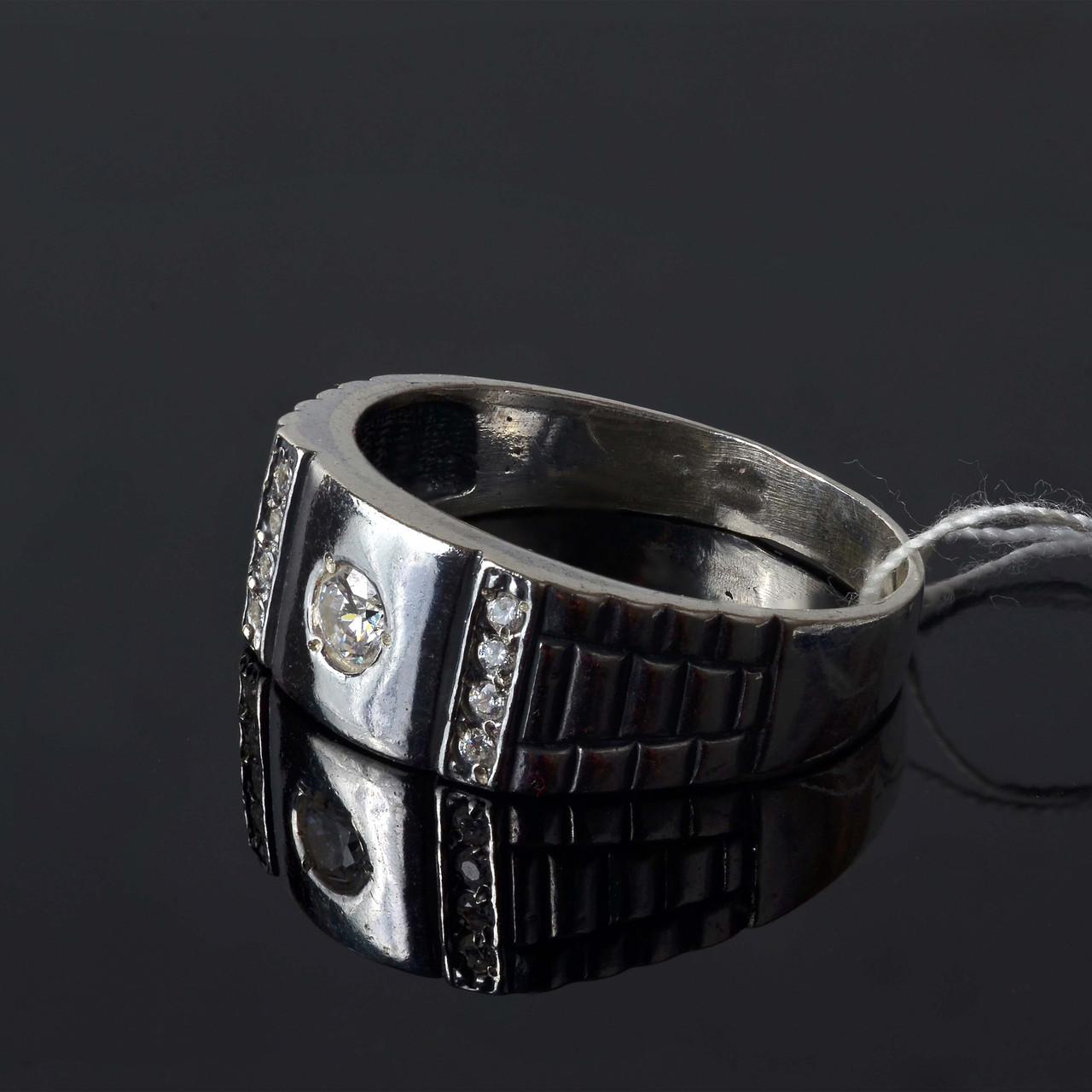 Серебряное кольцо печатка 22 размер