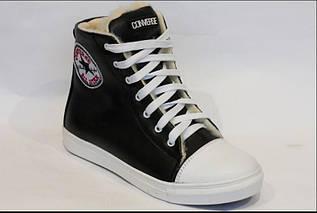 Ботинки женские Convers черно-белые кожа