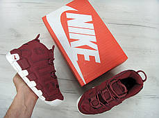 Кроссовки женские Найк баскетбольные кроссовки Nike Air More Uptempo Maroon Night Maroon Sail . ТОП Реплика ААА класса., фото 2