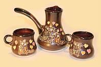 Турка + 2 чашки Набор кофейный