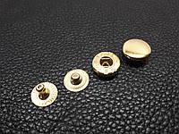 Кнопка металлическая Альфа 12,5мм. Турция цвет золото