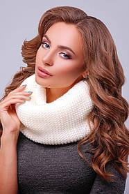 Вязаный женский снуд шарф в универсальном размере