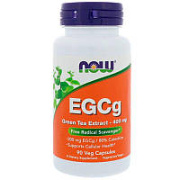 Экстракт зеленого чая, EGCg Green Tea Extract 400mg Now Foods, 90 caps