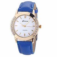 Превосходные женские часы с синим ремешком Geneva