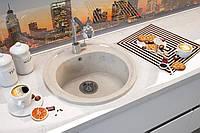 "Кухонная мойка Moko ""Roma"", цвет Onyx Bianco, искуст.мрамор TecMar"