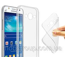 Чехол силиконовый прозрачный для Samsung J7, 0.5mm