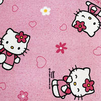 Розовый ковер в детскую HELLO KITTY 60