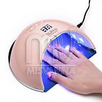 УФ лампа UV+LED SUN6s на 48 Вт для сушки геля и гель лака (pink)