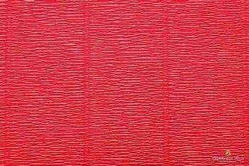 Бумага креповая, ярко-красный № 580, 50*250 см, 180 г/м2, Cartotecnica Rossi, 6058004