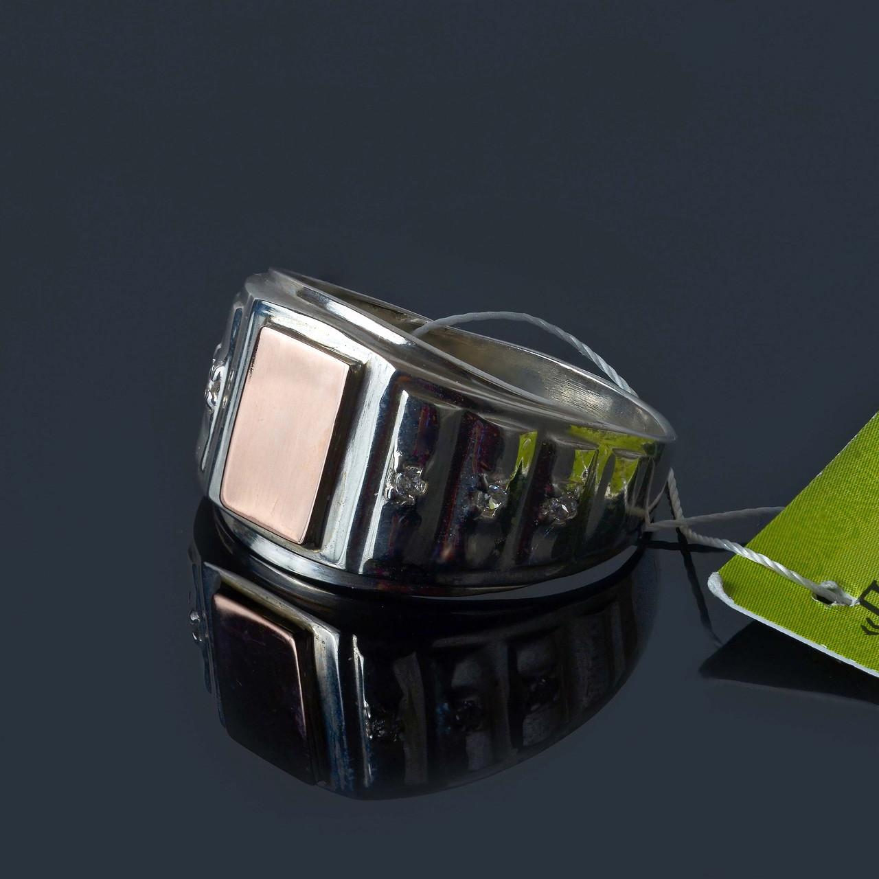 Мужское серебряное кольцо печатка 20 размер