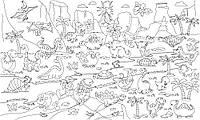 Обои-раскраски Динозавры 60*100 C-100008, фото 1