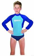 Детская лайкровая футболка рашгард Mares Rash Guard Boy Junior; длинный рукав; для мальчика (8-13 лет)
