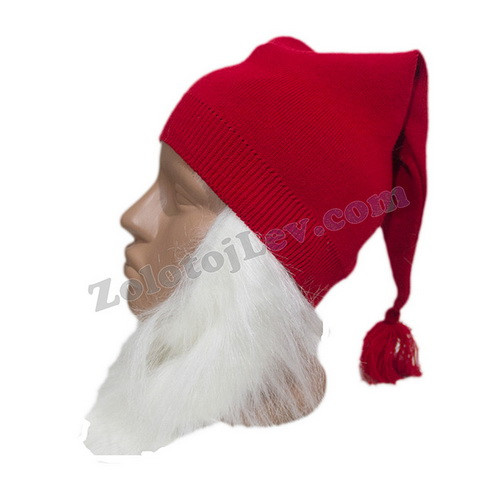 Комплект шапка и борода Гнома для ребенка