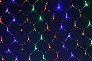 Гирлянда сетка 96 led(цветная) multicolor 3х04м