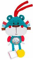 Игрушка плюшевая с погремушкой и прорезывателями Медведь, Canpol babies (68/042-3)