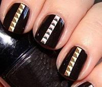 Заклепки для ногтей, квадрат 100 шт, 3 мм, фото 1