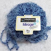 Мягкая пряжа шерсть полиамид голубого цвета