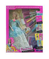 """Кукла типа """"Барби""""Модельер"""" 304 (48шт/2)раскраш.платье и волосы,тарфареты,цветн маркер...,кор25*5*33"""