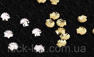 Заклепки для нігтів 50 шт, черепашки, 5 мм