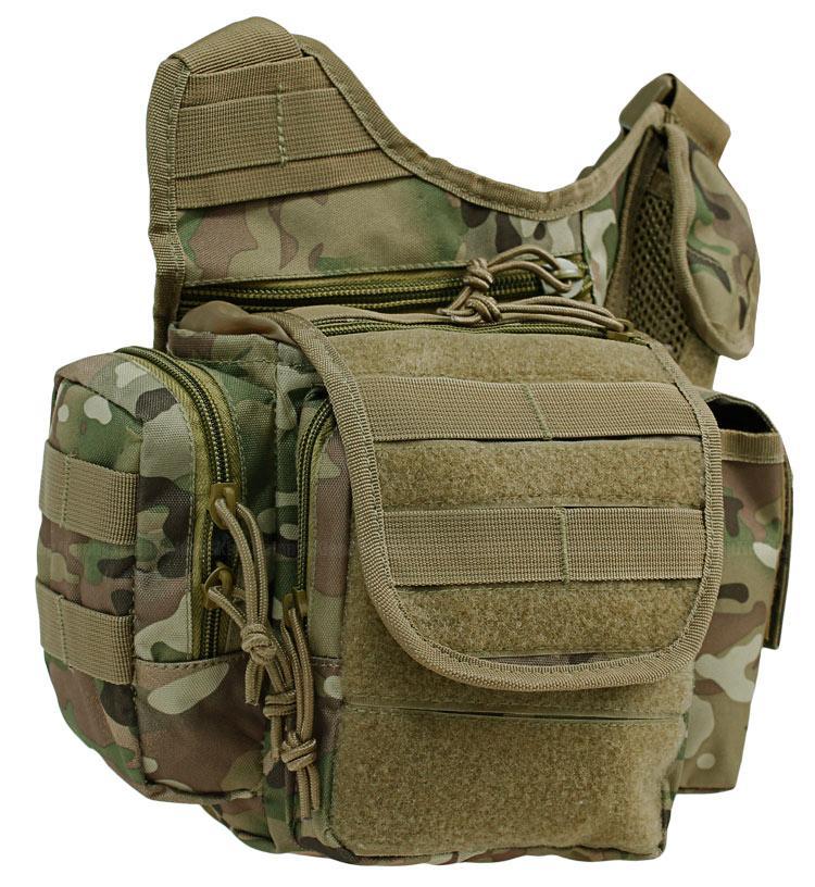 d842d2bfb908 Тактическая сумка через плечо мультикам, черный,олива, койот MilTec  MULTIFUNCTION SLING BAG 13726502