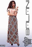 Женское длинное платье  -  8392 рр- S   M женская одежда  от производителя