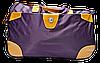 Удобная сумка-чемодан на колесах фиолетового цвета EEE-012331