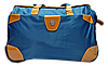 Удобная сумка-чемодан на колесах синего цвета EEE-012353