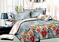 Постельное белье украинской торговой марки Комфорт Текстиль евро комплект с простыней на резинке