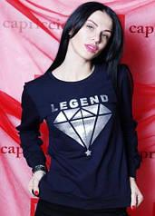 Стильный комфортный джемпер (цвет синий) / Женский свитер, удобный, модный