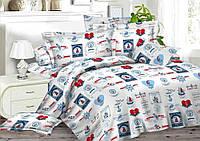 Евро комплект постельного белья хлопок 100% ранфорс Комфорт Текстиль в Украине
