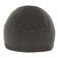 Зимняя шапка из флиса. Военная шапка черного цвета.