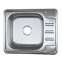 Кухонная мойка Platinum 5848B матовая 0,6 мм глубина 16 см