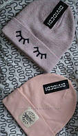 Женская пудрово-розовая шапка с нашивкой, Англия, фото 1