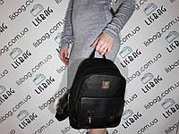 Женский средний рюкзак хорошего качества из мягкой кожи PU Черный