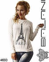 Женский модный молодежный свитшот  -  4693 р-р S   M женская одежда  в интернет магазине. Украина